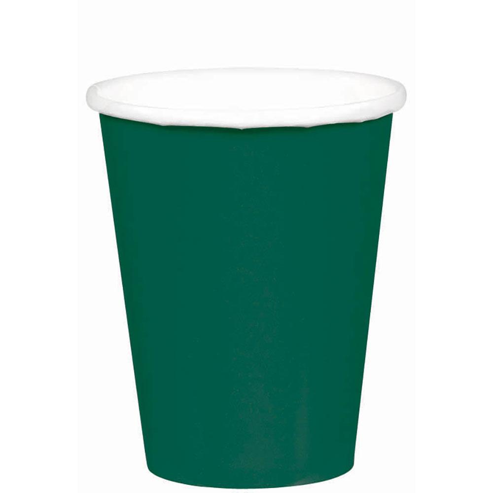 58015.80 ペーパーカップ 9オンス(フォレストグリーン)