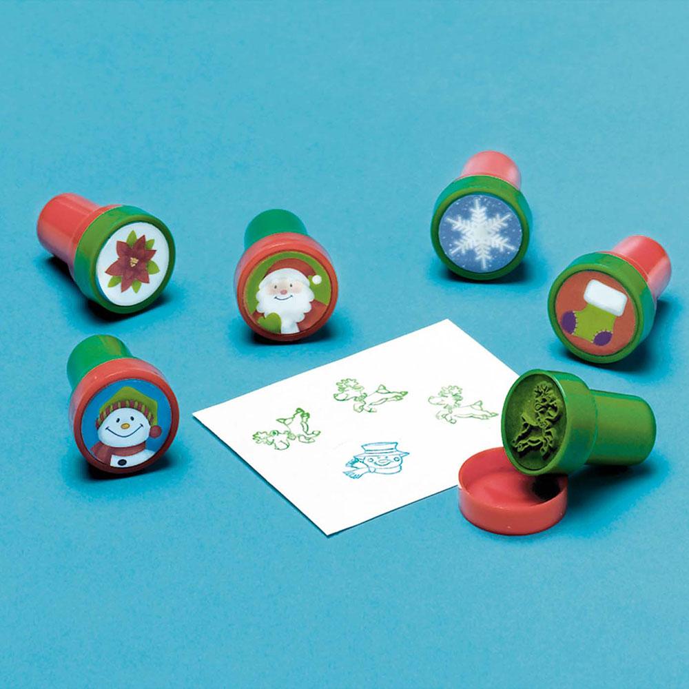 390747 クリスマス プラスチック スタンプセット