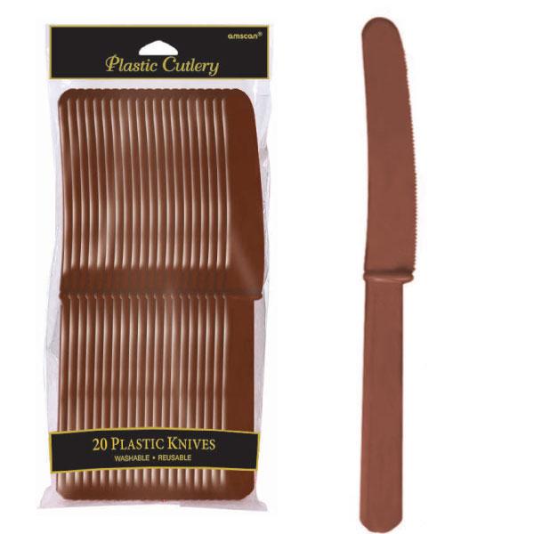 4548.111 プラスティック ナイフ(チョコレートブラウン)