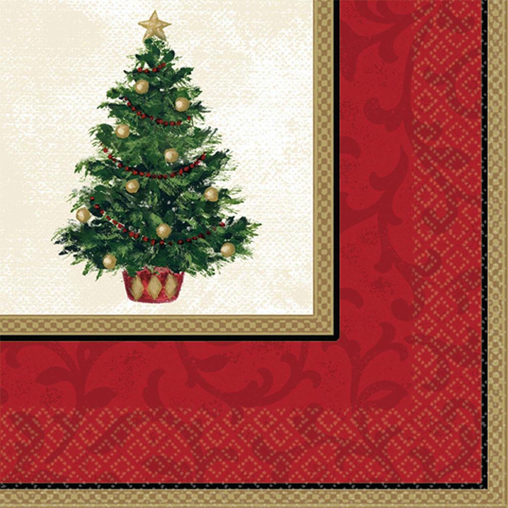 509900 ビバレッジナプキン「クラシック クリスマス ツリー」