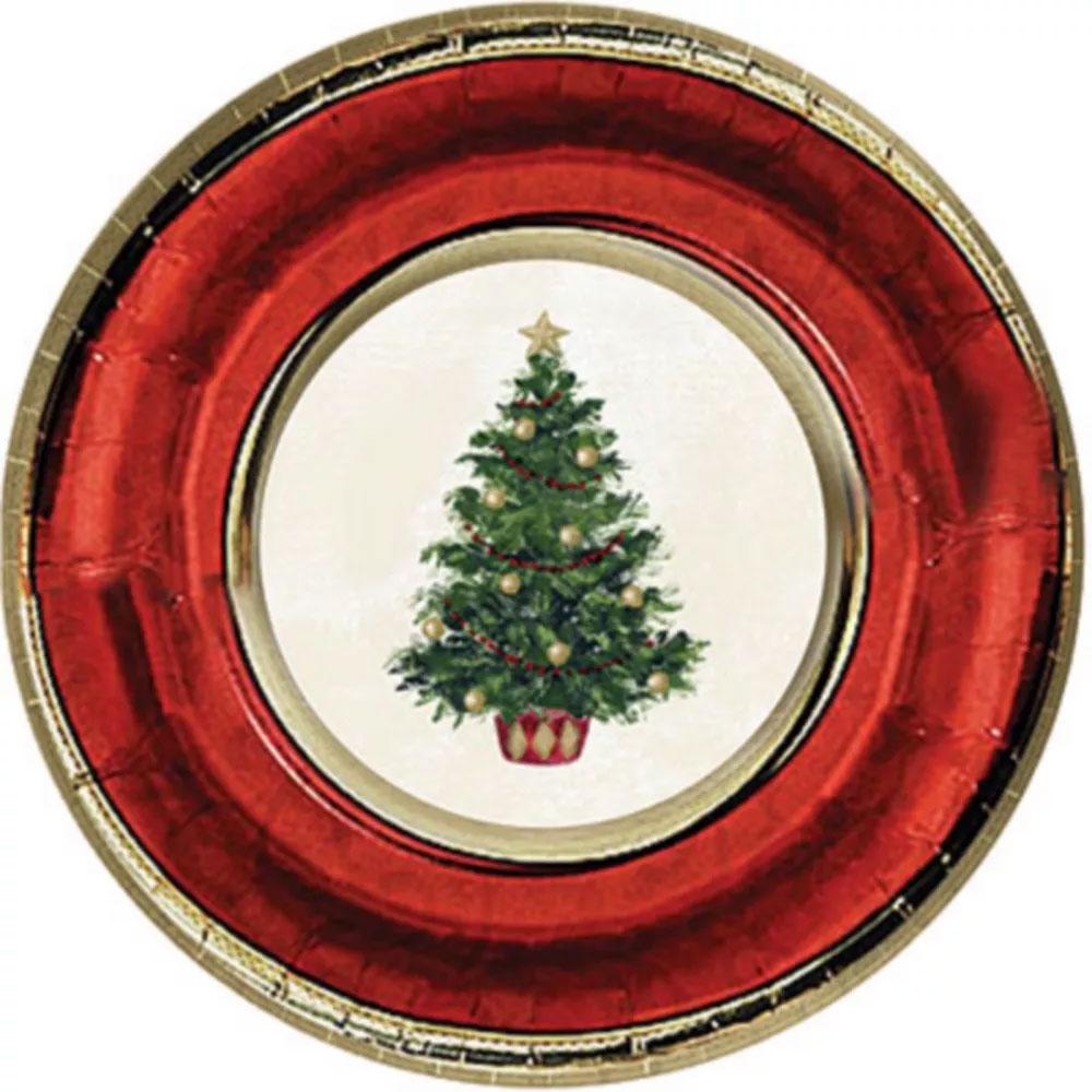 549900 メタリックプレート 7インチ「クラシック クリスマスツリー」
