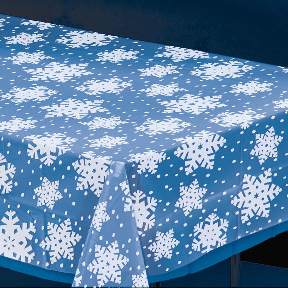 571205 スノーフレーク テーブルカバー(クリアー)