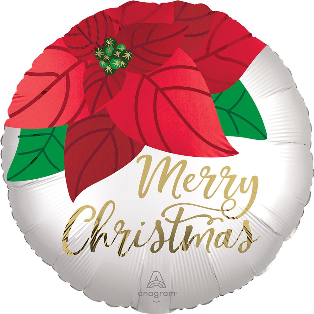 43350 Satin クリスマス ポインセチア
