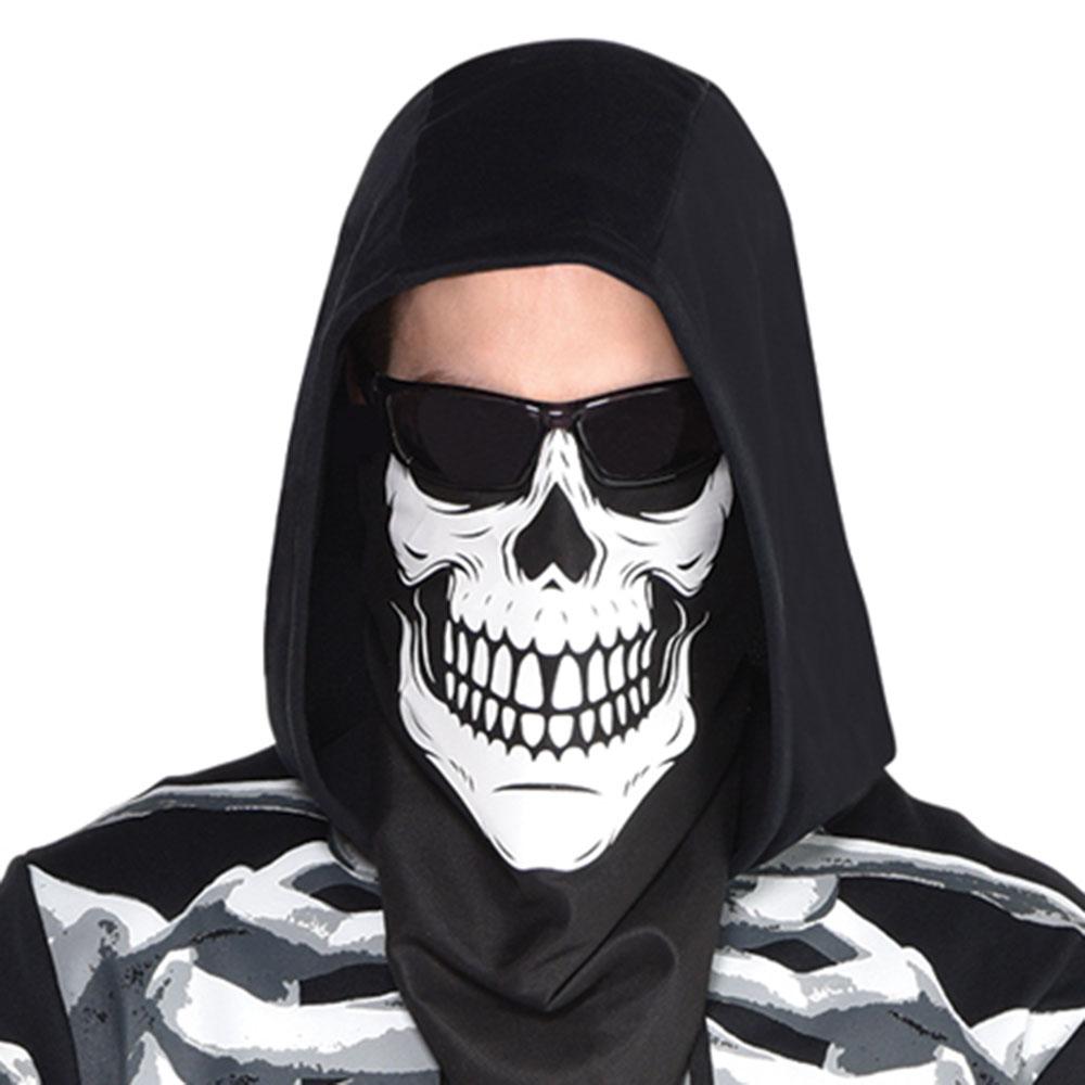 8404097 ブラック&ホワイト バンダナ マスク